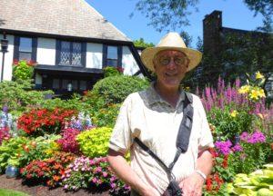 Ken Weiss Photographing Linda's Garden